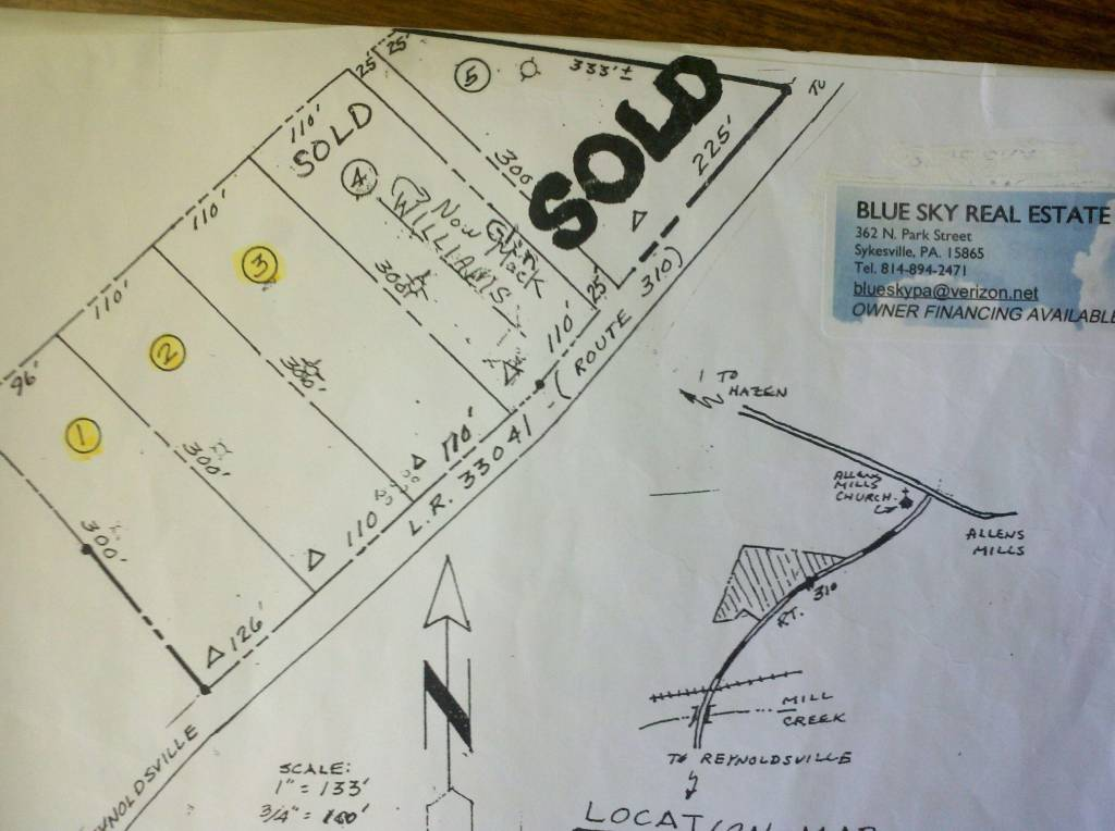 Quot Allen Mills Subdivision Quot Building Lots For Sale Warsaw Township Jefferson County Pa Blue