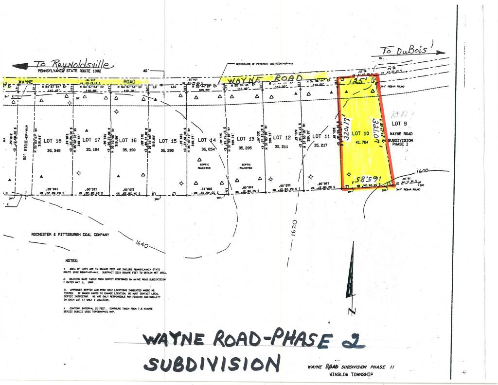 Quot Wayne Road Subdivision Phase Ii Quot Winslow Township